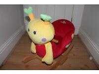 Snail rocking animal - used but still good condition, press ear and plays music