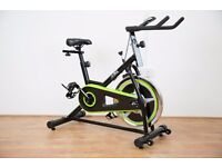 JLL Fitness LTD -Green/ Black IC200 Exercise Bike - Ex Showroom Model - Collection Only