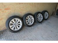 "BMW SERIES 1 16"" ALLOY WHEELS AND TYRES"