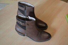 Ladies Fat Face Hatfield Brown Ankle Boots