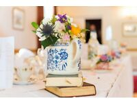 Vintage china cups, saucers and side plates & teapots for wedding rental