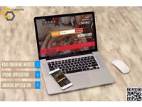 Online food ordering, web and apps for takeaways, fast food shops, restaurants