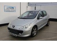 Peugeot 307 1.6 HDi Sport 5dr £1,750 p/x welcome FSH, full MOT, low miles,