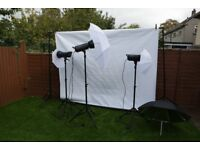 3 Heads Elemental Photo Studio Kit For Sale