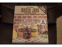 6 Pack Mason Jars With Chalk Labels