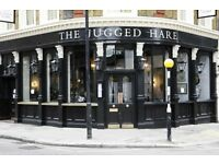 Bar Staff - The Jugged Hare - £7.20 p/h plus service charge