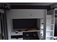 IKEA BLACK AND WHITE LOFT BED