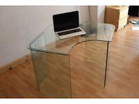 John Lewis Scandi Glass Corner Desk