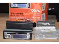 AIWA CAR CD RADIO PLAYER AUX IN 180W/INSTRUCTION/WIRES/CAGE/BOX