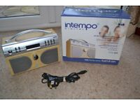 INTEMPO DAB DIGITAL RADIO MODEL PG-01 WITH ALARM, CLOCK & SLEEP FEATURES EXCELLENT CONDITION