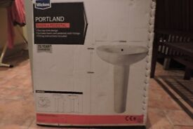 Washbasin and taps - brand new, un-used, in original packaging. £20. Histon.