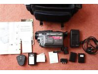 Panasonic NV-VX21, VHS-C Movie Camera + FULL ACCESSORIES, x21 Optical/x42 Digital Zoom-Made in Japan