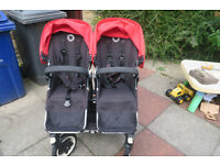 Bugaboo Donkey Duo in Red with 2 Seats and 1 Carrycot