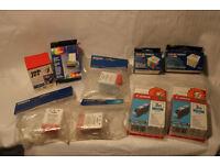 Selection of inkjet printer cartridges unused still in packaging