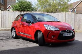 Citroen DS3 Dsign + Red Excellent Condition Taxed & MOT
