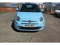 Fiat 500 1.2 Lounge (s/s) 3dr 12 Months Warranty Parts & labour 12380 Mileage