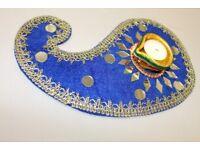 Paisley Mehndi Plate with Diya
