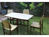 Drop Leaf Gate Leg Table by StoneHouse, Complete with 4 Chairs