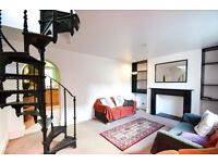Large two 2 bed flat arranged over three floors in Zone 2 Hammersmith. Has off street parking