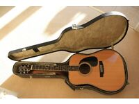 Very rare,early 1970s,range topping Mountain W300 acoustic guitar