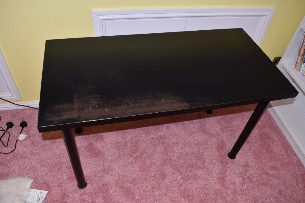 Ikea Bureau 120 X 60 : Ikea vika amon table size cm cm black in wood green