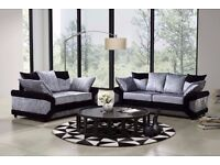 SAME DAY EXPRESS DELIVERY-BRAND NEW DINO CRUSH VELVET CORNER OR 3 AND 2 SEATER SOFA SET -- WOW OFFER