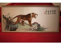 CHINESE SILK PAINTING 絲綢畫