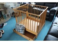 Bopita folding play pen, dual height, used
