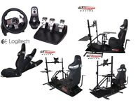 RACING SIMULATION COCK PIT + G27 STEERING WHEEL / PEDALS / GEAR SHIFTER EXCELLENT CONDITION
