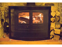 Fireguard For Double Door Stove - Black Contemporary Design - Excellent Condition