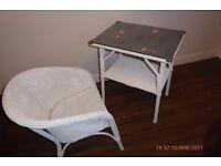 lloyd loom table and chair
