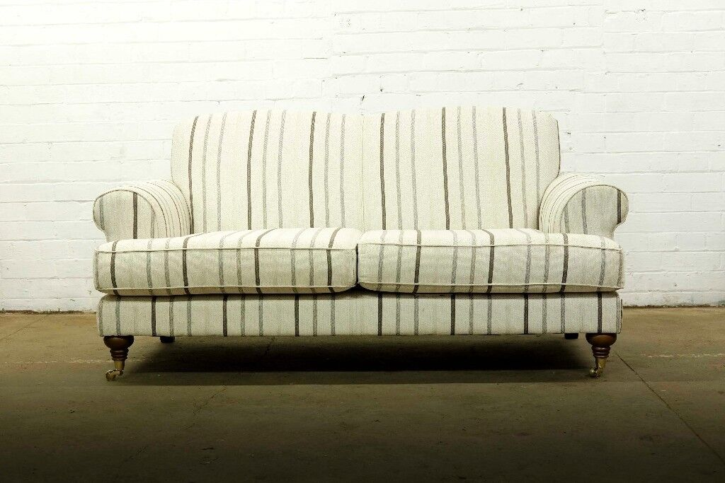 BEAUTIFUL HEART OF HOUSE SHERBOURNE 2 SEATER SOFA IN NATURAL STRIPE ...