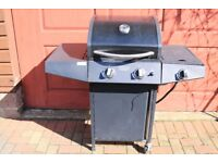 Grill Chef 3 Burner Gas Barbecue BBQ With Side Burner Cabinet With 1 Door