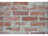 Reclaimed Brick Slips tiles Wall Cladding