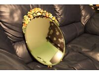 OLD STYLE MIRROR WITH FLOWERS AROUND COLLECTION IN PERSON, LONDON SE8 £25