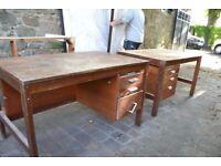 2 used office desks in need of refurbishment