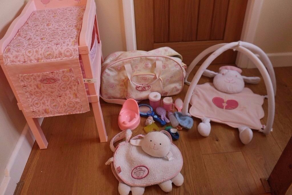 Girls Toy Doll Baby Annabell Accessories Changing Table