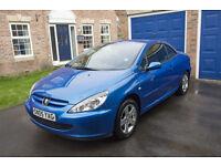 2005 Peugeot 307 CC 2.0 16v 2dr, Blue