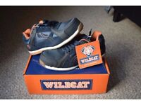 Mens Wildcat Navy Lightweight Safety Trainers Boots Shoes Suede UK Size 9