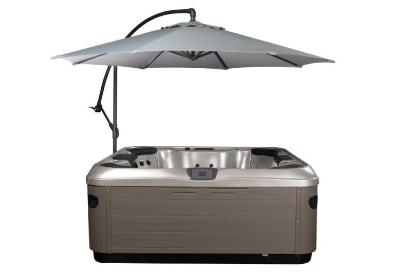Spa Side 10' foot Cantilever Umbrella with Hot Tub Under-mount Base 4 colors