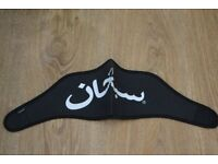 New Supreme Black White Arabic Hallelujah Neoprene Ski Face Mask Off Stussy Nike Adidas Bape Palace