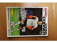 AUSTRIA v WALES OFFICIAL MATCH DAY PROGRAMME 6TH OCT 2016