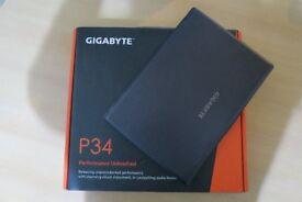 Gigabyte 14 P34K V5 Core Intel I7-6700HQ 8GB GTX 965M 256GB SSD Gaming Laptop