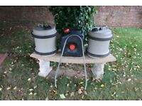 2 x AQUAROLL 29L FRESH WATER BARRELS & WASTE WATER CARRIER - CARAVAN CAMPING MOTORHOME