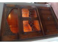 Old Charm Illuminated Display Cabinet in Dark Oak