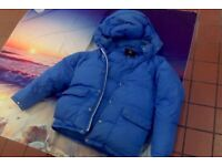 mens blue GOOSE DOWN puffer jacket made in iceland medium M