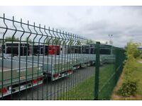 2.4m high (8ft) WaveGUARD weldmesh panel & post system