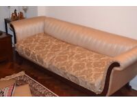 Sofa set - solid wooden frame with cloth