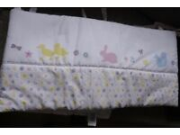 baby cot/crib bumper by Mothercare