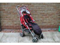 MacLaren Red Techno XT Stroller Buggy Pushchair